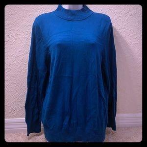 🔴5/$15 Roz & Ali Teal Turtleneck Sweater 1X